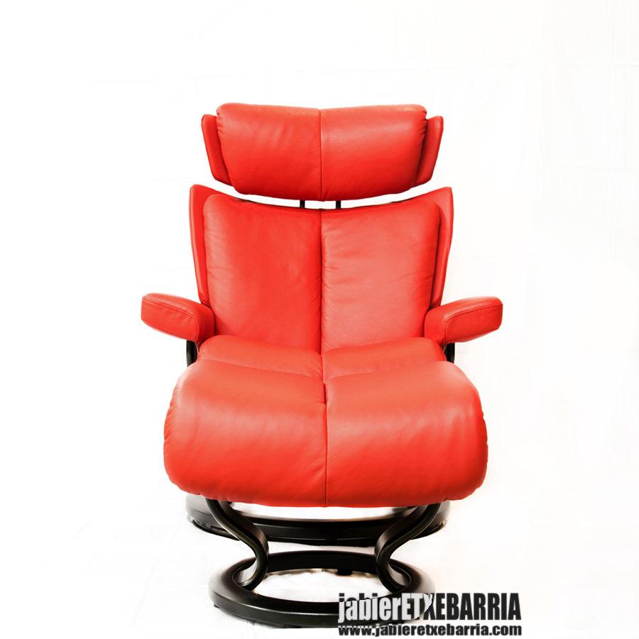 sillon stressless rojo 01